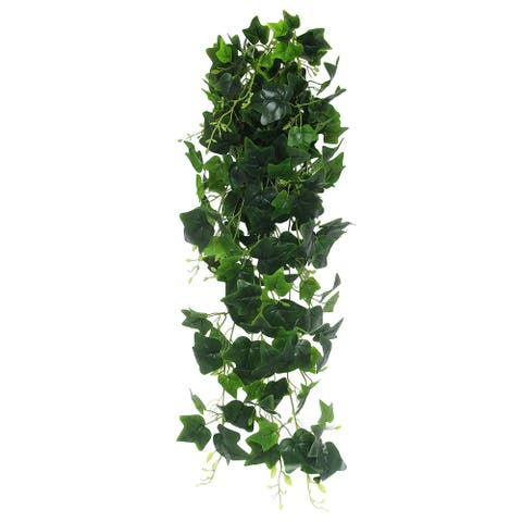 "English Ivy Leaf Hanging Greenery Bush UV Resistant Indoor Outdoor 49in - 49"" L x 15"" W x 9"" DP"