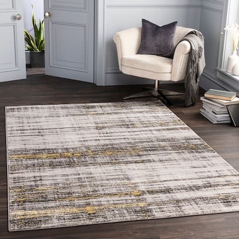 Daedra Abstract Striped Area Rug