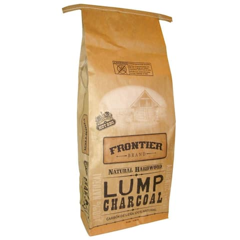 Frontier LCID20 100% Natural Hardwood Lump Charcoal, 20 Lb