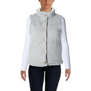 Thread & Supply Womens Quilted Faux Trim Outerwear Vest - M