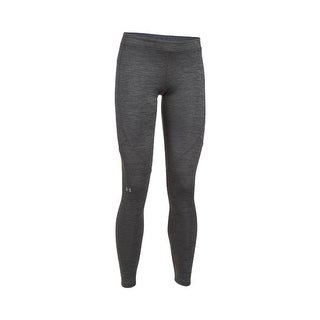 Under Armor Women's ColdGear Armour Leggings, Carbon Heather/Metallic Silver, X-Small