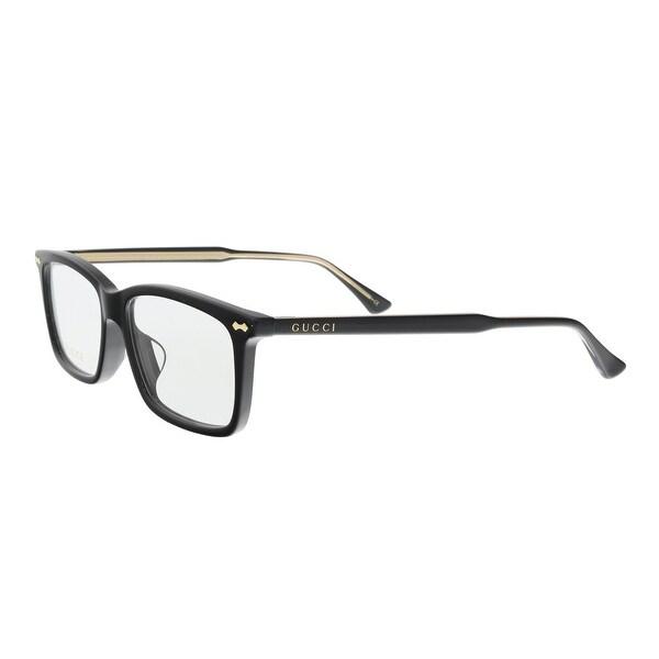 Shop GUCCI GG0191OA 001 Black Rectangle Optical Frames - Free ...