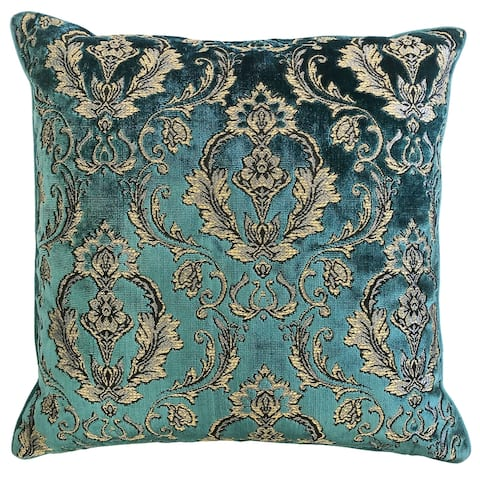 Rodeo Home Beatrice Damask Cut Velvet Throw Pillow
