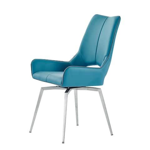 Global Furniture USA 2PK Swivel Turquoise Dining Chair