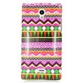 Insten Colorful Elegant Tribal Hard Snap-on Rubberized Matte Case Cover For Sharp Aquos Crystal - Thumbnail 2