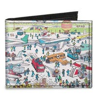 Where's Waldo? Airport Canvas Bi Fold Wallet One Size - One Size Fits most
