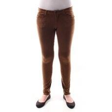 JOU JOU Womens New 1072 Brown Textured Faux Suede Skinny Pants Juniors 3 B+B