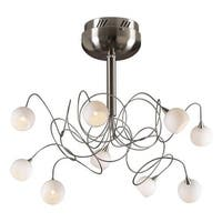 PLC Lighting PLC 6039  Semi-Flush Ceiling Fixture from the Fusion Collection - Grey