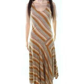 Lauren by Ralph Lauren NEW Beige Women's Size XS Striped Maxi Dress