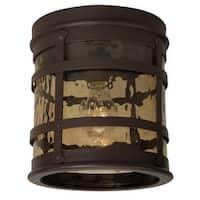 "Craftmade Z5017 Espa�a 1-Light 8-5/16"" Wide Flush Mount Outdoor Ceiling Fixture - Rustic Iron - n/a"