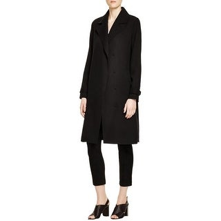 Eileen Fisher Womens Jacket Notch Collar Double-Breasted - s