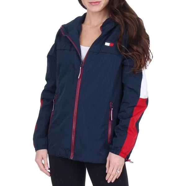 Shop Tommy Hilfiger Womens Windbreaker Jacket Fall Hooded