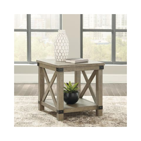 Aldwin End Table - Gray
