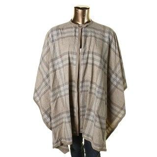 Lauren Ralph Lauren Womens Plus Wool Blend Suede Trim Cape Coat
