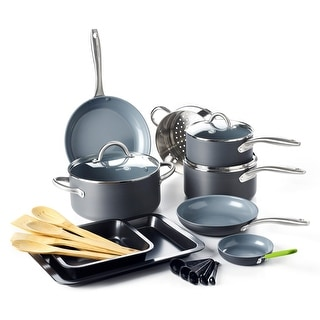 Link to GreenPan Lima Ceramic Non-Stick Cookware Set, 18pc Similar Items in Cookware
