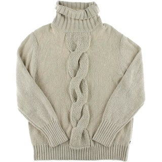Nautica Mens Cable Knit Turtleneck Pullover Sweater