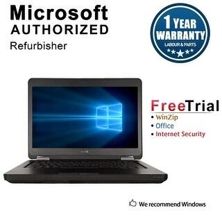 "Refurbished Dell Latitude E5440 14.0"" Laptop Intel Core i5 4300U 1.9G 4G DDR3 320G DVD Win 10 Pro 1 Year Warranty - Black"
