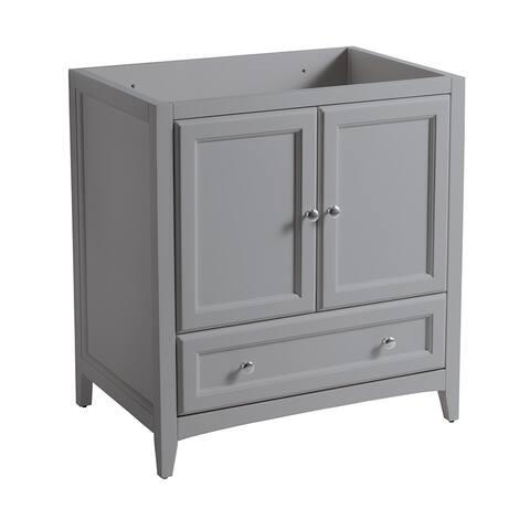 "Fresca Oxford 30"" Gray Traditional Bathroom Cabinet"