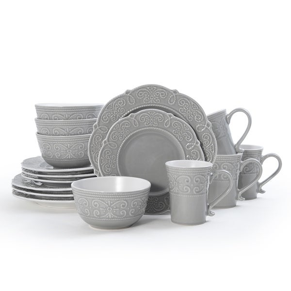 Pfaltzgraff Abby Gray 16 piece Dinnerware Set (Service for 4). Opens flyout.