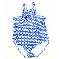 Designer Brand Blue White Womens Size XXL One-Piece Swimwear