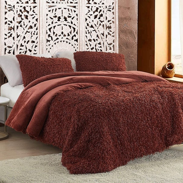 Birds of a Feather - Coma Inducer Oversized Comforter - Burnt Henna. Opens flyout.