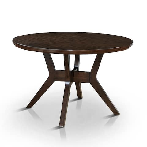 Furniture of America Yria Mid-Century Modern Walnut 48-in Dining Table
