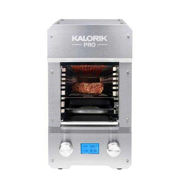 KALORIK Pro 1500 Electric Steakhouse Grill, Stainless Steel Refurbished. Opens flyout.