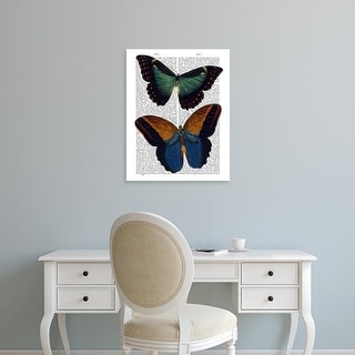 Easy Art Prints Fab Funky's 'Butterflies 4' Premium Canvas Art