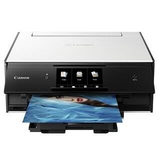 Canon PIXMA TS9020 Wireless All-in-One Inkjet Printer (White) - White