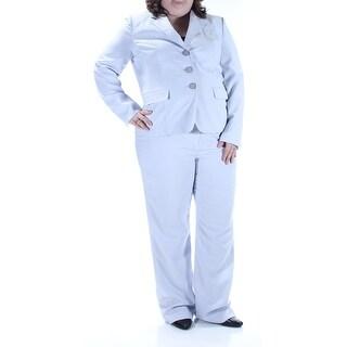 LE SUIT $80 Womens 1116 Purple Suit Straight leg Wear To Work Pant Suit 18 B+B
