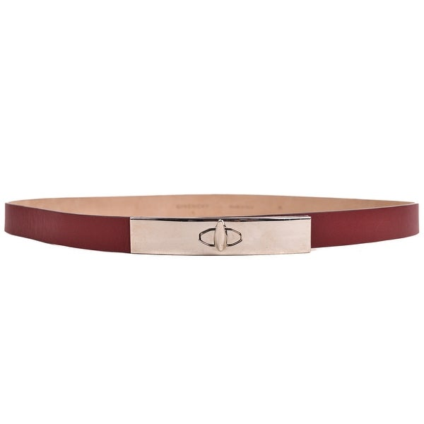 Givenchy Womens Solid Red Leather Waist Belt