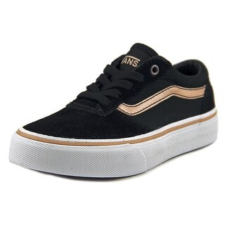 Vans Milton Women Round Toe Suede Black Sneakers