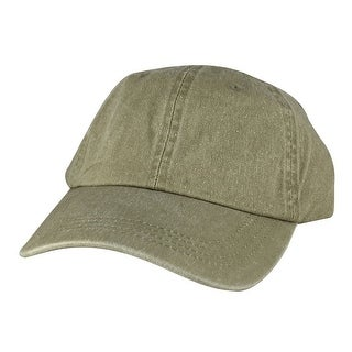 Hip Hop Skateboard PLC02 Cotton Washed Unstructured Dad Cap Adjustable Strapback Hat - Khaki