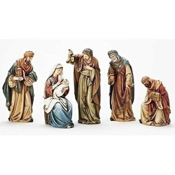 5-Piece Traditional Religious Smiling Kings Nativity Set 14""