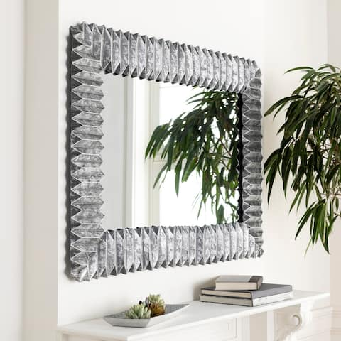 Hilga Galvanized Metal 45x33-inch Rectangular Mirror