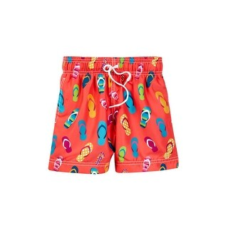 Azul Baby Boys Multi Color Drawstring Waist Flip Flop Swim Shorts - 12-18 months