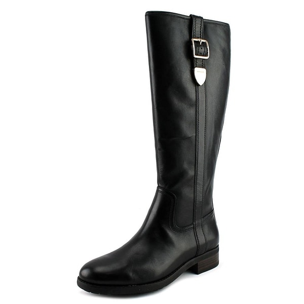 Coach Easton Semi Matte Calf Women Black Boots