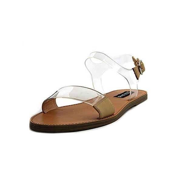 ea4344fea Shop Design Lab Womens Lucy Flat Sandals Faux Leather Open Toe ...