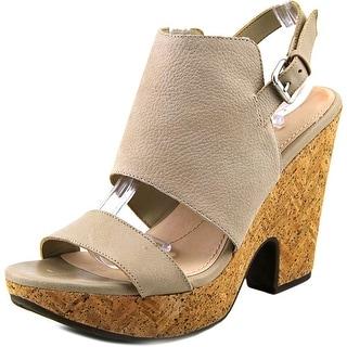 Naya Misty Open-Toe Leather Slingback Heel
