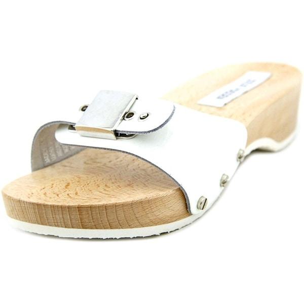 Steve Madden Jadey Open Toe Patent Leather Slides Sandal