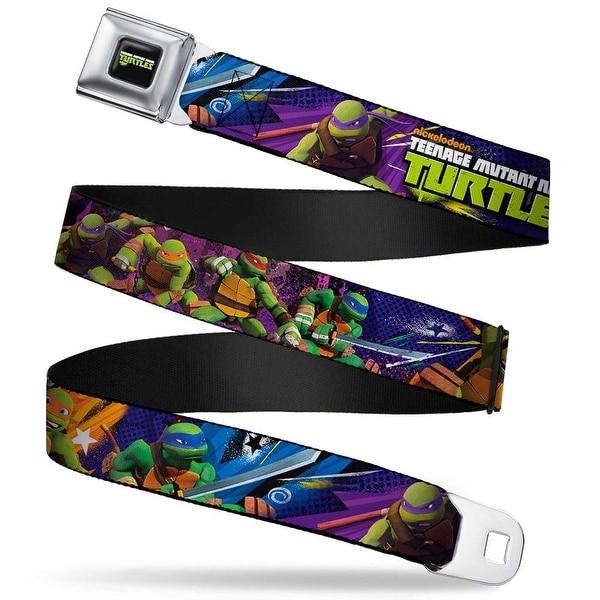 New Series Teenage Mutant Ninja Turtles Logo Full Color Teenage Mutant Seatbelt Belt