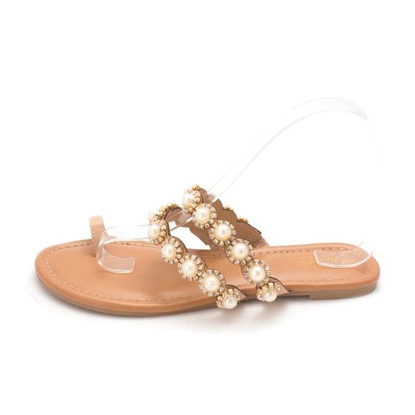 Thalia Sodi Womens joya Split Toe Casual Slide Sandals