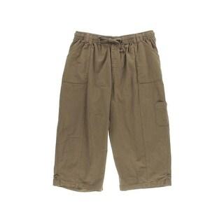 Karen Scott Womens Plus Comfort Waist Cargo Capri Pants - 1X