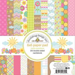 "Doodlebug Double-Sided Paper Pad 6""X6"" 24/Pkg-Hello Sunshine, 12 Designs/2 Each"