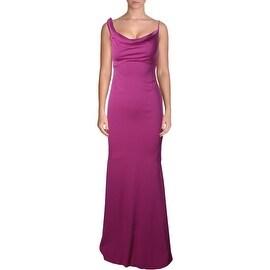 Nicole Miller Womens Spaghetti Straps Full-Length Evening Dress