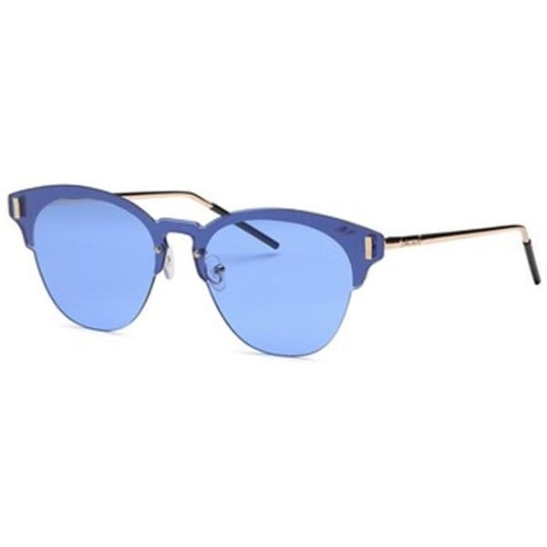 77dde3bf69 Shop Mia Nova MN2017-114 BLUE Semi-Rimless Round Style Sunglasses ...