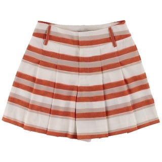 Alice + Olivia Womens Pleated Striped Casual Shorts