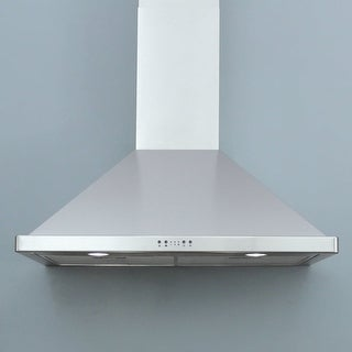 "Miseno MH00636AS 750 CFM 36"" Stainless Steel Wall Mounted Range Hood with Dual Halogen Lighting System and Electronic LED"