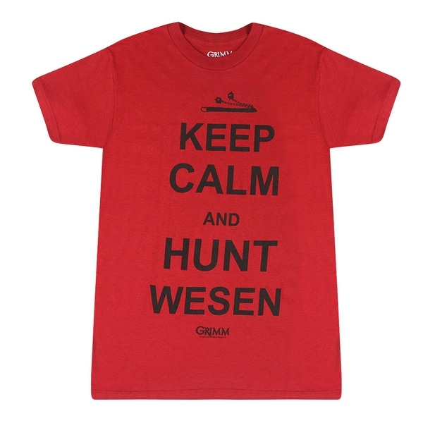 0fa31db4a41b Shop Grimm Keep Calm And Hunt Wesen Red T-shirt - Free Shipping On Orders  Over $45 - Overstock - 17064423