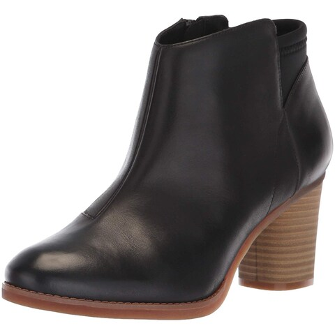SoftWalk Womens Kora Leather Round Toe Ankle Motorcycle Boots
